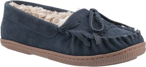 Hush Puppies Addy Classic Ladies Slippers Navy